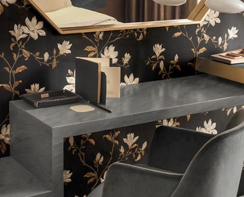 Applicazione Corian® Top Piano Camera Hotel